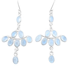 925 sterling silver 15.32cts natural rainbow moonstone dangle earrings p21952