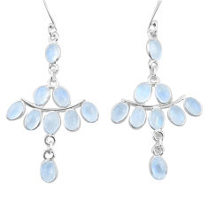 15.93cts natural rainbow moonstone 925 sterling silver dangle earrings p21960