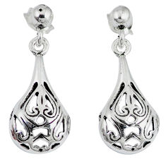 Indonesian bali style solid 925 sterling silver dangle earrings jewelry p2264