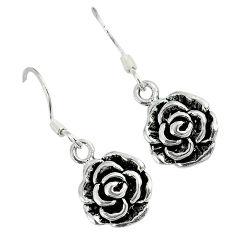 925 sterling silver indonesian bali style solid flower earrings jewelry p2283