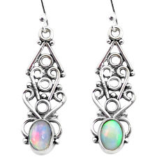 925 sterling silver 3.32cts natural multi color ethiopian opal earrings p25714