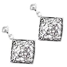 Indonesian bali style solid 925 sterling silver dangle earrings jewelry p2613