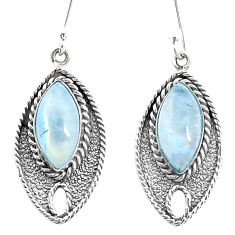 13.55cts natural rainbow moonstone 925 sterling silver dangle earrings p26699