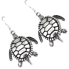 3d moving charm solid 925 sterling silver tortoise earrings jewelry p2694