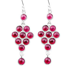 13.71cts natural red garnet 925 sterling silver chandelier earrings p27221