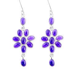 925 sterling silver 15.08cts natural purple amethyst chandelier earrings p27229
