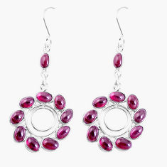 19.68cts natural red garnet 925 sterling silver chandelier earrings p27242