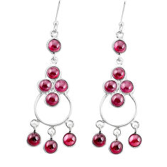 925 sterling silver 15.65cts natural red garnet chandelier earrings p27264