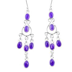 15.08cts natural purple amethyst 925 sterling silver chandelier earrings p27287
