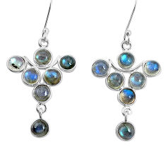 10.05cts natural blue labradorite 925 sterling silver chandelier earrings p27353