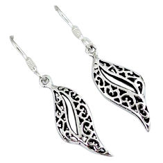 Indonesian bali style solid 925 sterling solid silver dangle earrings p2806