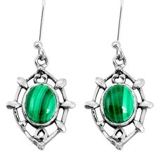 6.72cts natural green malachite (pilot's stone) 925 silver earrings p29253