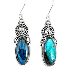 12.60cts natural blue labradorite 925 sterling silver dangle earrings p29658