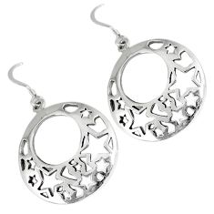 925 silver indonesian bali style solid dangle designer charm earrings p3050