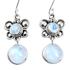 925 sterling silver 10.85cts natural rainbow moonstone butterfly earrings p30564