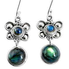 11.66cts natural blue labradorite 925 sterling silver butterfly earrings p30565