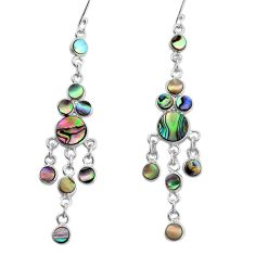 925 silver 12.01cts natural abalone paua seashell chandelier earrings p31065