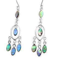 925 silver 11.27cts natural abalone paua seashell chandelier earrings p31105