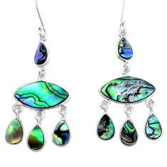 925 silver 14.72cts natural abalone paua seashell chandelier earrings p31208