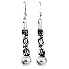 Indonesian bali style solid 925 sterling solid silver dangle earrings p3924