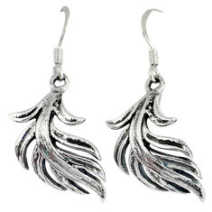 Indonesian bali style solid 925 sterling silver dangle wing charm earrings p3929