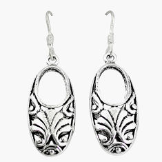 Indonesian bali style solid 925 sterling solid silver earrings jewelry p3965
