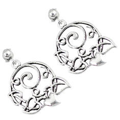 Indonesian bali style solid 925 sterling plain silver earrings jewelry p3966