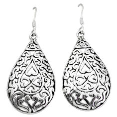 Indonesian bali style solid 925 sterling solid silver earrings jewelry p3974