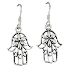 925 silver indonesian bali style solid hand of god hamsa earrings jewelry p4004