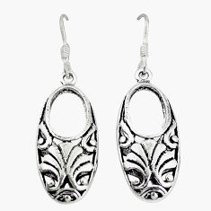 Indonesian bali style solid 925 sterling solid silver dangle earrings p4020