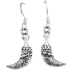 Indonesian bali style solid 925 sterling solid silver dangle earrings p4029