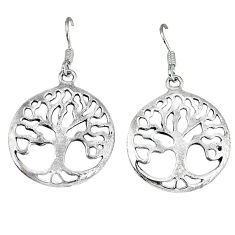5.98gms indonesian bali style solid 925 silver tree of life earrings p4063
