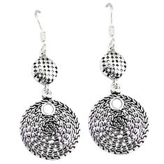 6.08gms indonesian bali style solid 925 sterling silver dangle earrings p4065