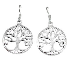 5.69gms indonesian bali style solid 925 silver tree of life earrings p4083