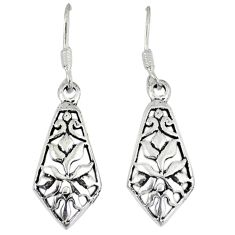 4.86gms indonesian bali style solid 925 sterling silver dangle earrings p4216
