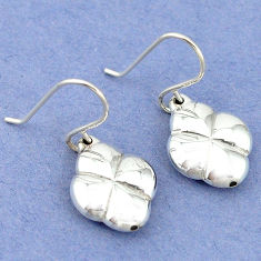 2.09gms indonesian bali style solid 925 sterling silver dangle earrings p4345