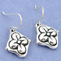 2.05gms indonesian bali style solid 925 sterling silver dangle earrings p4348