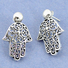 4.78gms indonesian bali style solid 925 sterling silver dangle earrings p4359