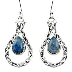925 sterling silver 5.16cts natural blue labradorite dangle earrings p5791