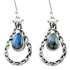 4.93cts natural blue labradorite 925 sterling silver dangle earrings p5796