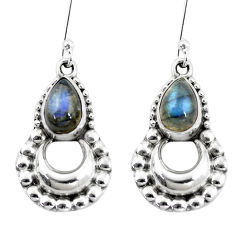 5.30cts natural blue labradorite 925 sterling silver dangle earrings p5859