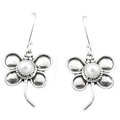 925 sterling silver 1.61cts natural white pearl butterfly earrings p5864