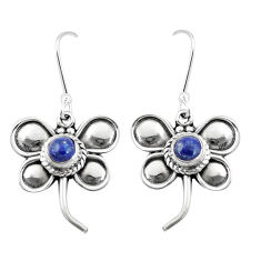 1.70cts natural blue lapis lazuli 925 sterling silver butterfly earrings p5869