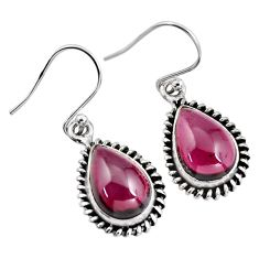 8.26cts natural red garnet 925 sterling silver dangle earrings jewelry p93442