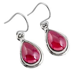 7.97cts natural red garnet 925 sterling silver dangle earrings jewelry p93448
