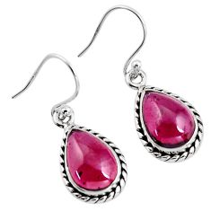 8.75cts natural red garnet 925 sterling silver dangle earrings jewelry p93449