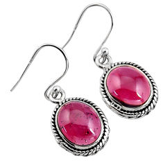 925 sterling silver 9.61cts natural red garnet dangle earrings jewelry p93451