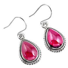 10.02cts natural red garnet 925 sterling silver dangle earrings jewelry p93458