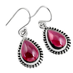 8.51cts natural red garnet 925 sterling silver dangle earrings jewelry p93462