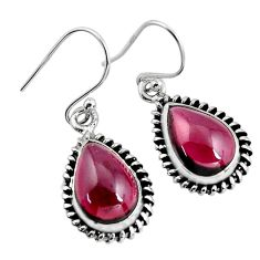 925 sterling silver 8.49cts natural red garnet dangle earrings jewelry p93464